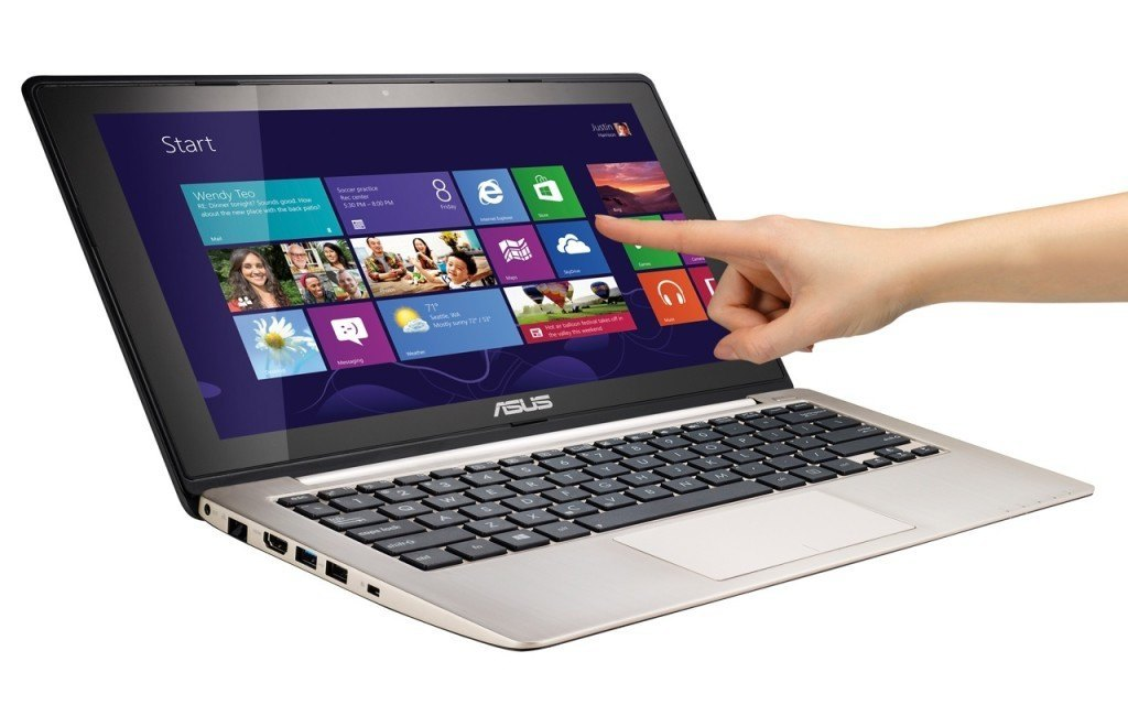 laptop with a touch screen